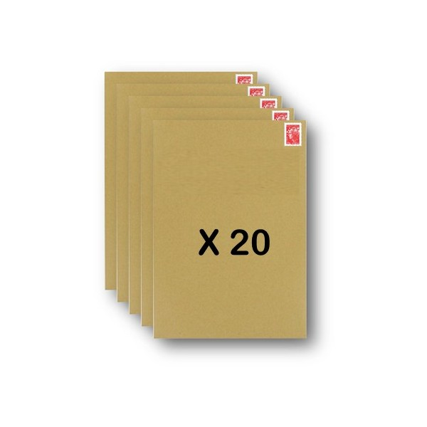 20 enveloppes timbr es kraft livraison j 1 prioritaire poids maximum 100g. Black Bedroom Furniture Sets. Home Design Ideas