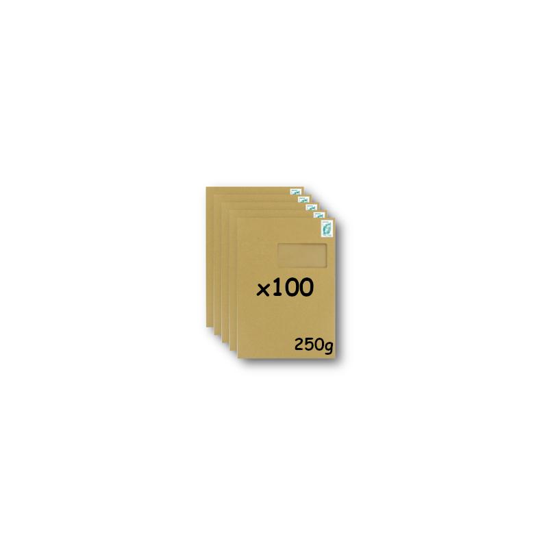 Pack 50 Enveloppes timbrées - Format postal C4 - Lettre verte - 100g