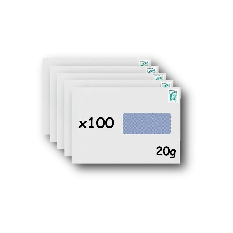 Pack 50 Enveloppes timbrées - Format postal C4 - Ecopli - 100g