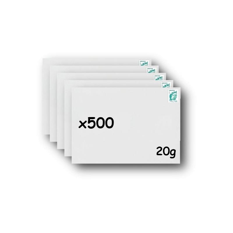 Pack 100 Enveloppes timbrées - Format postal C4 - Ecopli - 100g