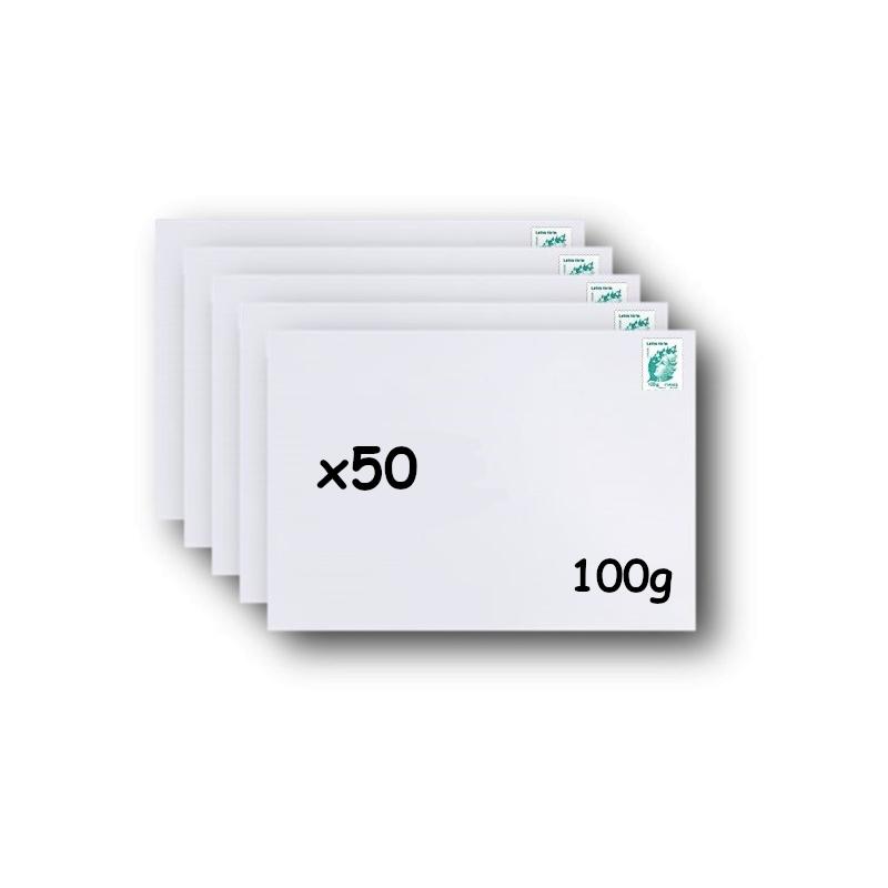 Pack 500 Enveloppes timbrées - Format postal DL - Lettre prioritaire - 20g