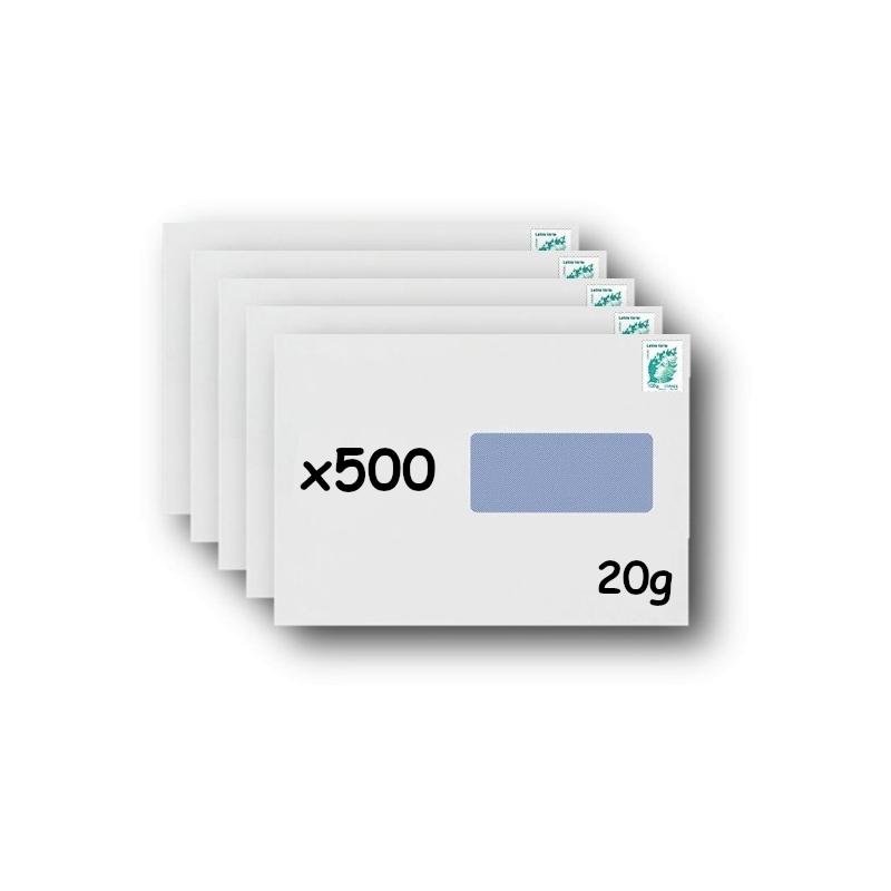 Pack 500 Enveloppes timbrées - Format postal C4 - Ecopli - 100g
