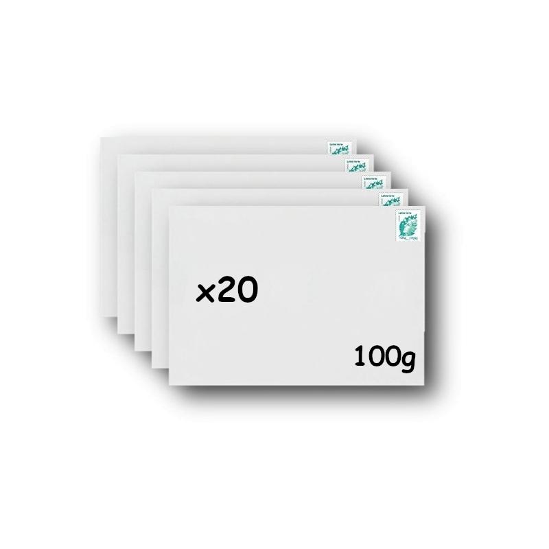 Pack 20 Enveloppes timbrées - Format postal C4 - Ecopli - 250g
