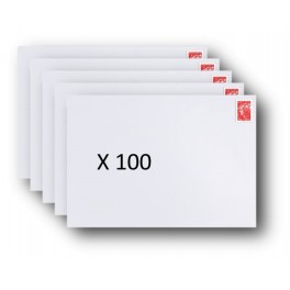 Pack 100 Enveloppes timbrées - Format postal C6 - Lettre prioritaire - 100g