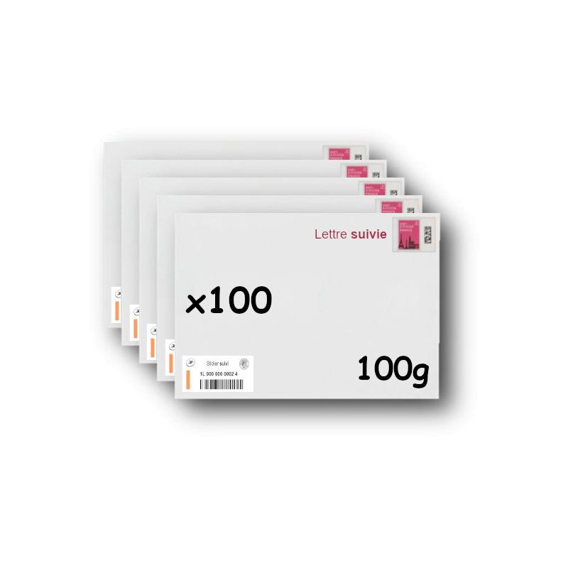 Pack 500 Enveloppes timbrées - Format postal C6 - Lettre verte - 20g