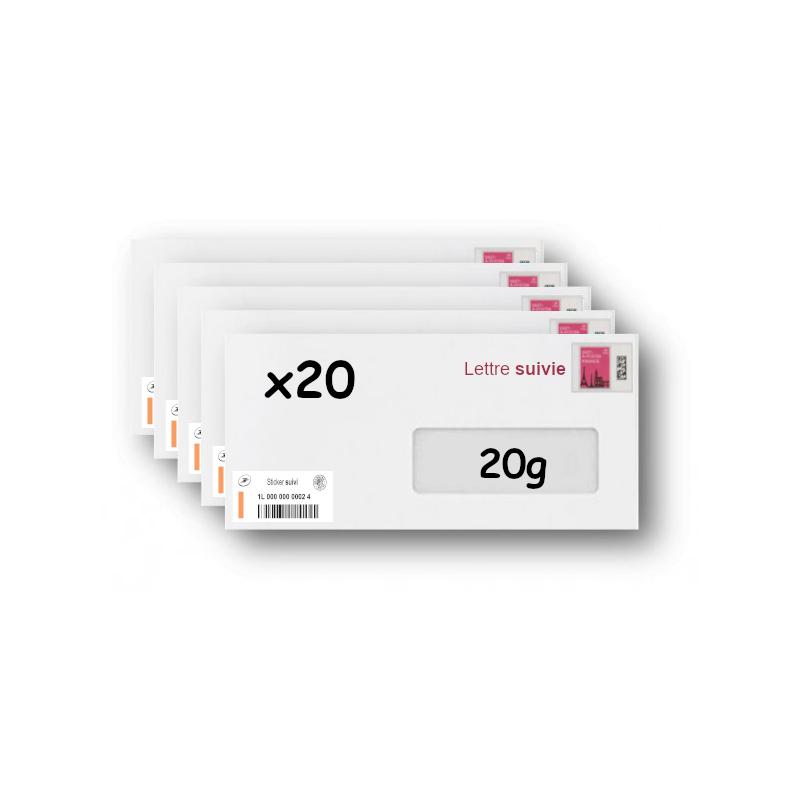 Pack 500 Enveloppes timbrées - Format postal C6 - Lettre verte - 100g