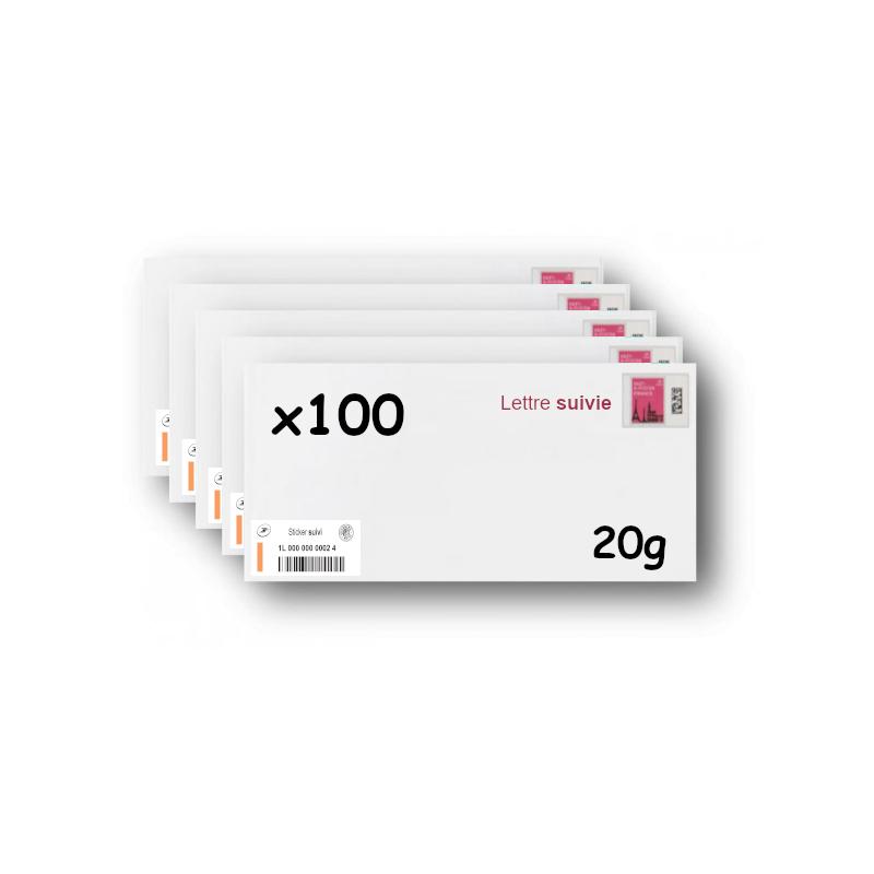 Pack 500 Enveloppes timbrées - Format postal C6 - Ecopli - 20g