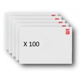 Pack 100 Enveloppes timbrées - Format postal C5 - Lettre prioritaire - 100g