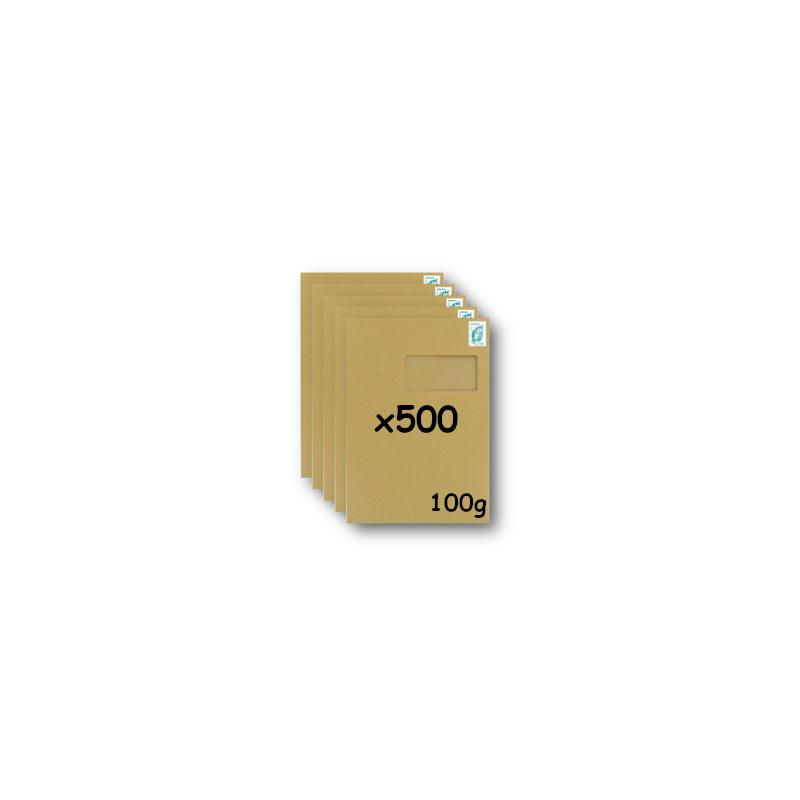 Pack 500 Enveloppes timbrées - Format postal C4 - Lettre prioritaire - 100g