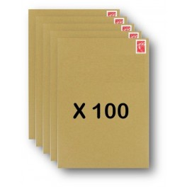 Pack 100 Enveloppes timbrées - Format postal C4 - Lettre prioritaire - 250g