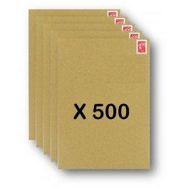 Pack 500 Enveloppes timbrées - Format postal C4 - Lettre prioritaire - 250g