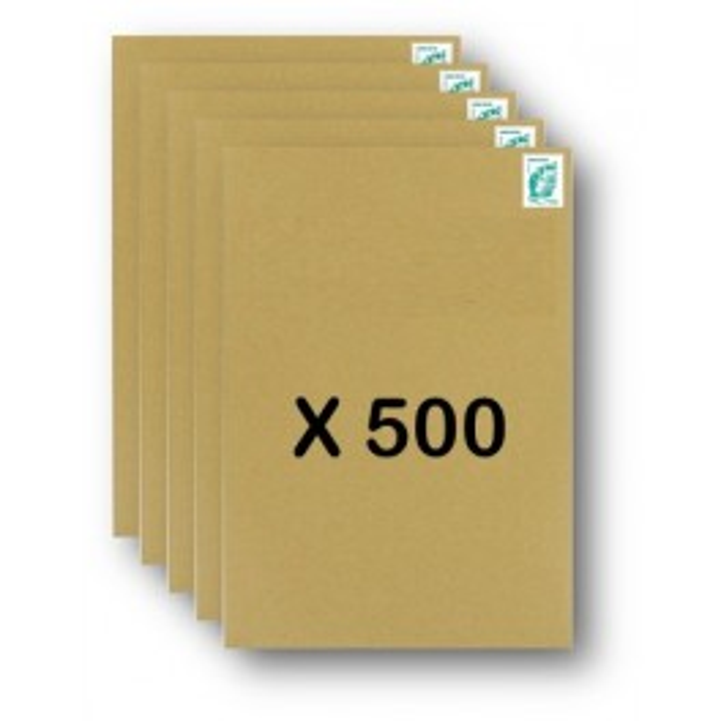 Pack 500 Enveloppes timbrées - Format postal C4 - Lettre verte - 100g